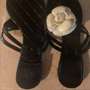 Chanel Camellia Sandals Size 36